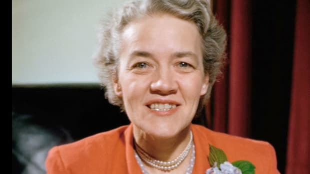 In a speech delivered March 3, 1951, in Town Hall, New York, Sen. Margaret Chase Smith warns those in her party who are critical of Gen. Dwight D. Eisenhower, the likely presidential nominee, to tone down their rhetoric as a division grows in the GOP over the stationing of troops in post-World War II Germany.