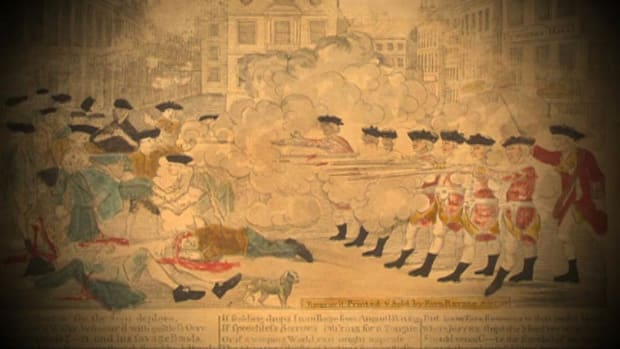 The shooting of several men by British soldiers in 1770 inflames passions in the colonies.