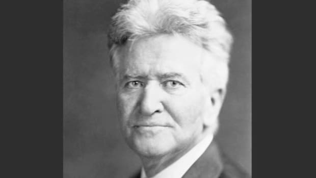 On March 17, 1944, Sen. Robert La Follette urges congressional passage of a bill that would enable low-income families to buy food with coupons provided by the government.