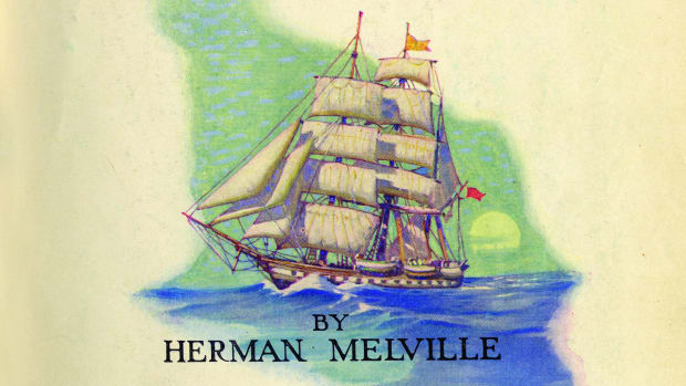 "On this day in 1851, Harper & Brothers in New York publishes Moby-Dick, by Herman Melville. The book flopped, and it was many years before the book was recognized as an American classic. Melville was born in New York City in 1819. A childhood bout of scarlet fever left him with weakened eyes. At age 19, he became a cabin boy on a ship bound for Liverpool. He later sailed to the South Seas on a whaler, the Acushnet, which anchored in Polynesia. He took part in a mutiny, was thrown in jail in Tahiti, escaped, and wandered around the South Sea islands from 1841 to 1844. In 1946, he published his first novel, Typee, based on his Polynesian adventures. His second book, Omoo (1847), also dealt with the South Seas. The two novels became popular, although his third, Mardi (1849), more experimental in nature, failed to catch on with the public. Melville bought a farm near Nathaniel Hawthorne's house in Massachusetts, and the two became close friends, although they later drifted apart. Melville wrote for journals and continued to publish novels. Moby Dick was coolly received, but his short stories were highly acclaimed. Putnam's Monthly published ""Bartleby the Scrivener"" in 1853 and ""Benito Cereno"" in 1855. In 1866, Melville won appointment as a customs inspector in New York, which brought him a stable income. He published several volumes of poetry. He continued to write until his death in 1891, and his last novel, Billy Budd, was not published until 1924."
