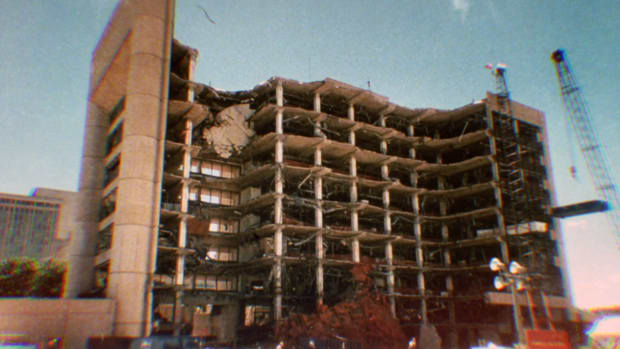 Learn what motivated white right-wing terrorists Timothy McVeigh and Terry Nichols to commit the Oklahoma City Bombing, which killed 168 people on April 19, 1995. Discover the federal and local clean up efforts and the fate of McVeigh and Nichols.