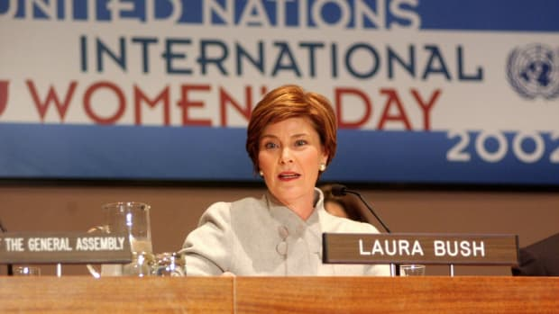 Laura Bush championed literacy and education during her time as First Lady of the United States. Find out more about her life and her marriage to George W. Bush in this video.