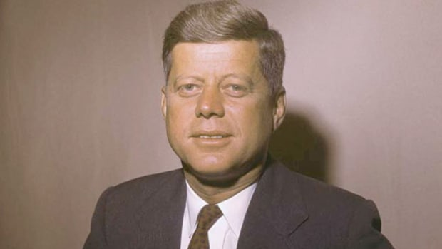 At a May 31, 1961, Paris press conference, President John F. Kennedy describes his principal aim for meeting with Soviet leader Nikita Khrushchev at the Geneva summit, the first between the two superpowers since 1960.