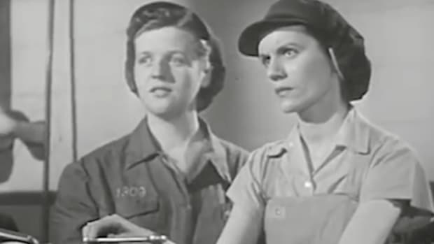 "A lack of labor supply during World War II forced women into industrial jobs. This Flashback highlights the ""problems"" female workers faced in a new and unfamiliar environment – reflective of a less enlightened time."