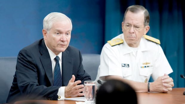 In the days after the May 2, 2011, mission in which U.S. forces killed Osama bin Laden, speculation rises over whether top Pakistani officials knew he was living in the country. In a press conference on May 18, 2011, Defense Secretary Robert Gates weighs in on the diplomatic controversy.