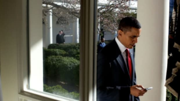 Electronic communications devices like the blackberry and smart phones present unique security challenges when used by the president and his high-level staff.