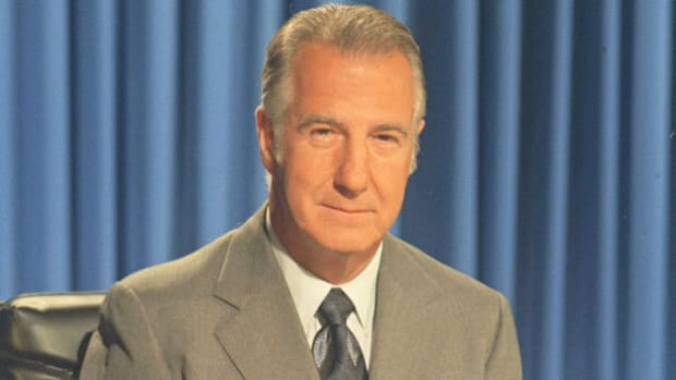 On October 10, 1973, after the U.S. Justice Department uncovered widespread evidence of his political corruption, Spiro Agnew announces his resignation as vice president of the United States.