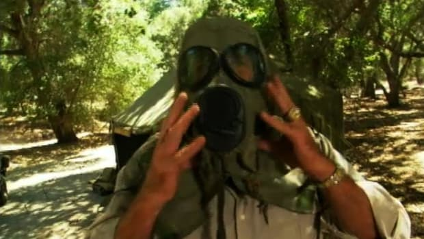 In this video clip of History's Mail Call, host R. Lee Ermey takes a look at how gasmasks work and explains why those sold in surplus stores are not worth the money. Military gasmasks will save your life if they are made and worn properly. When poisonous fumes enter the mask it passes through a filter with a dense layer of carbon and thick padded air cleaner. It is then cleaned and provides fresh air to the soldier or person wearing the mask.