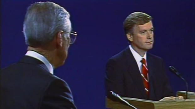 "Dan Quayle daringly compares his experience to that of Jack Kennedy's thus sparking the response by his opponent ""you're no Jack Kennedy."""