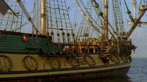 Pirates used a variety of plundered cannons and ammunition to intimidate ships on the high seas.