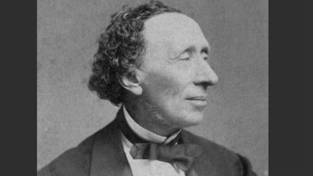 In 1955, on the150th anniversary of Hans Christian Anderson's birth, a broadcast from Anderson's hometown of Odense, Denmark, commemorates the famous fairy tale author.