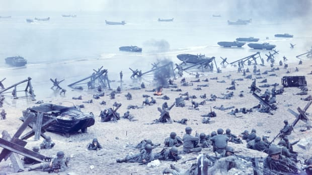 This Day in History - June 6, 1944, The United States and allied troops invaded at Normandy. This was the largest air, land, and sea invasion in history. The goal was to surprise Germany, but Germany was ready to fight. It was the beginning of the end of World War II.