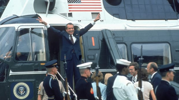 "On this day in 1974, on an evening televised address, President Richard M. Nixon announces his intention to become the first president in American history to resign. With impeachment proceedings underway against him for his involvement in the Watergate affair, Nixon was finally bowing to pressure from the public and Congress to leave the White House. ""By taking this action,"" he said in a solemn address from the Oval Office, ""I hope that I will have hastened the start of the process of healing which is so desperately needed in America.""On this day in 1974, on an evening televised address, President Richard M. Nixon announces his intention to become the first president in American history to resign. With impeachment proceedings underway against him for his involvement in the Watergate affair, Nixon was finally bowing to pressure from the public and Congress to leave the White House. ""By taking this action,"" he said in a solemn address from the Oval Office, ""I hope that I will have hastened the start of the process of healing which is so desperately needed in America.""On this day in 1974, on an evening televised address, President Richard M. Nixon announces his intention to become the first president in American history to resign. With impeachment proceedings underway against him for his involvement in the Watergate affair, Nixon was finally bowing to pressure from the public and Congress to leave the White House. ""By taking this action,"" he said in a solemn address from the Oval Office, ""I hope that I will have hastened the start of the process of healing which is so desperately needed in America."""
