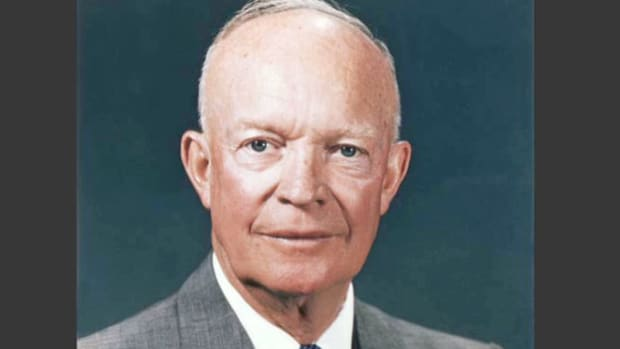 President Eisenhower talks about his three imperatives for achieving and maintaining peace throughout the world.