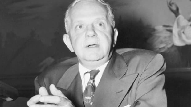 "On June 29, 1947, at the closing session of the 38th annual conference for the National Association for the Advancement of Colored People (NAACP), Walter F. White, the organization's executive secretary, warns that despite progress made in civil rights, true equality can't be achieved with a ""separate but equal"" mandate."
