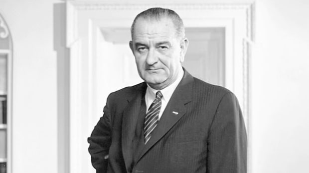 "During his State of the Union address on January 4, 1965, President Lyndon Johnson outlines his proposal for domestic legislation aimed at creating what he calls the ""Great Society."""