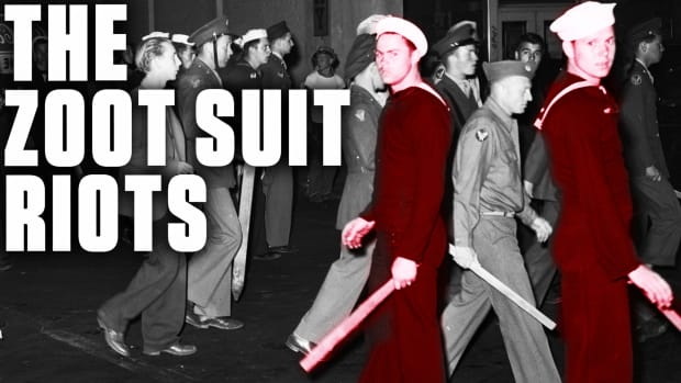 "Learn how media bias and anti-Mexican racism contributed to the Zoot Suit Riots in Los Angeles in 1943, resulting in one of the worst episodes of racial violence in 20th century America. Discover the origins of the term ""zoot suit."""
