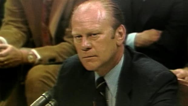 Watch this historical clip of President Gerald Ford as he speaks in front of the judiciary committee about the impeachment of President Nixon. Elizabeth Holtzman of New York questions him about the topic. Listen and see what he had to say in this clip.