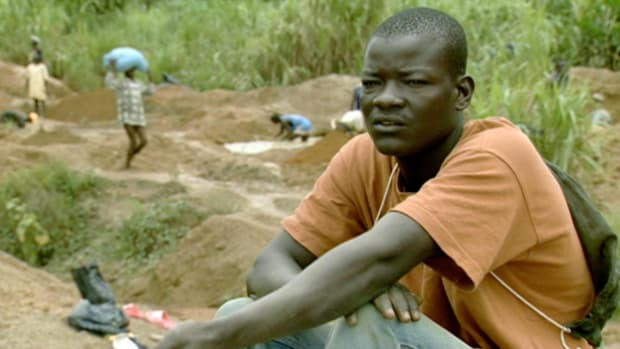 Revolutionary United Front forced civilians to mine for diamonds in Sierra Leone.