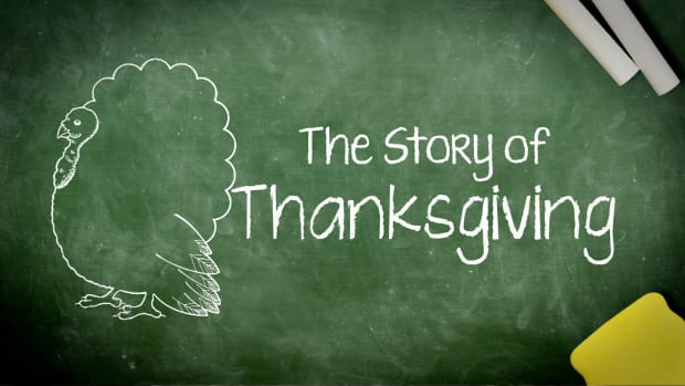 A group of children explain what happened on the first Thanksgiving.