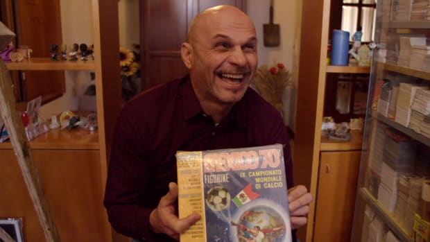 Learn about Gianni Bellini, who always believed it was his destiny to have the biggest collection of soccer stickers in the world. His massive collection now includes over one million stickers.
