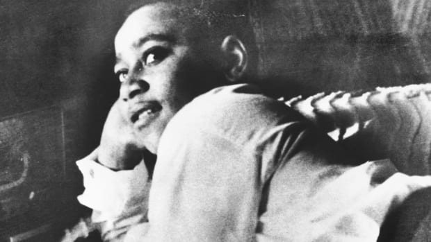 On August 24, 1955, 14-year-old Emmett Till reportedly flirted with a white cashier in Money, Mississippi. Four days later, two white men tortured and murdered Till. His murder galvanized the emerging Civil Rights Movement.