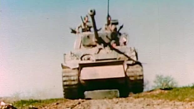 Armored tanks provided extra firepower and mobility during World War II.