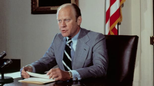 On September 16, 1974, President Gerald Ford signed a proclamation that would offer Vietnam War draft evaders the chance to earn clemency by performing alternative service for their country. In a speech to the American people, Ford defends his decision as one that's best for the nation.