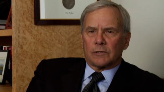 Tom Brokaw gives an interview in which he talks about the year 1968.