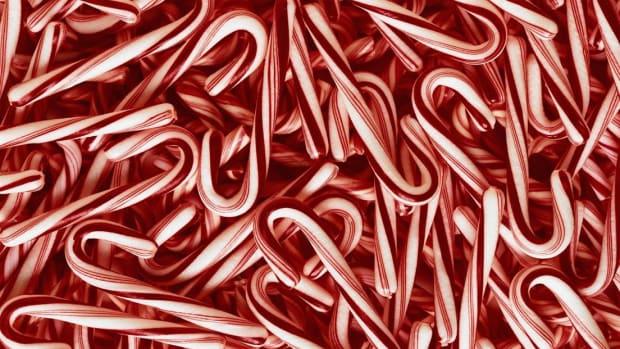 Though Christmas happens once a year, candy canes are manufactured all year long.
