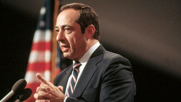 In one of his most celebrated speeches, delivered July 16, 1984, New York Governor Mario Cuomo rises to national attention by highlighting President Reagan's failures.
