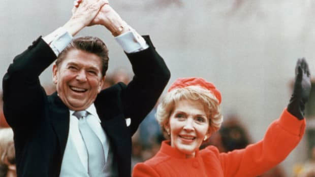 With the country discouraged by high inflation, unemployment, gas shortages and the Iran hostage crisis, former California governor Ronald Reagan easily defeated incumbent President Jimmy Carter in the 1980 election. In his inaugural address on January 20, 1981, President Reagan promises to limit the reach of the federal government.