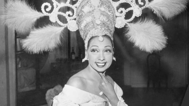 A Los Angeles news report explains how the African-American dancer Josephine Baker took a stand against racism by making a citizen's arrest.