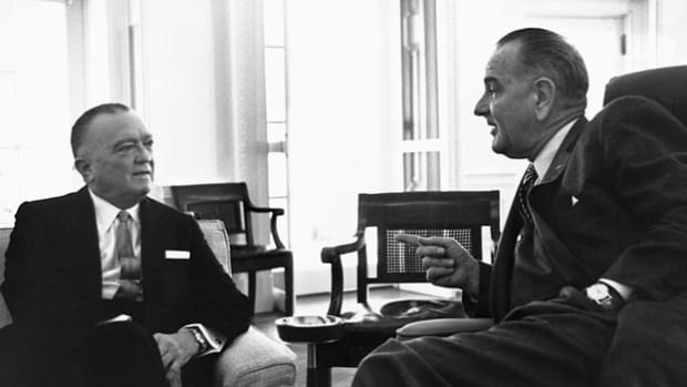 On June 23, 1964, the burned car of three missing civil rights workers who had disappeared in Mississippi —James Chaney, Mickey Schwerner and Andrew Goodman—was discovered. In a recorded phone call later that day, FBI director J. Edgar Hoover delivers the news to President Lyndon B. Johnson. While Johnson holds out hope that the three men may still be alive, Hoover suspects the worst.