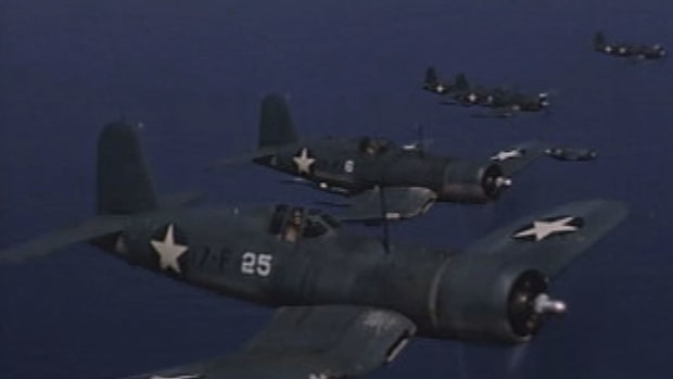 The Vought F4U Corsair was the first American-made flyer to reach 400 miles per hour in level flight. Find out what other distinctive features helped make it a favorite for outperforming the Japanese during World War II.