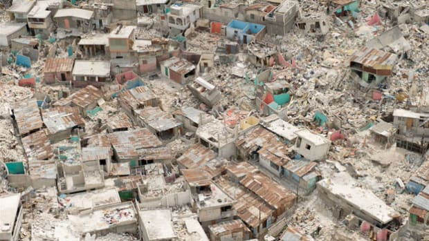 After a 7.0-magnitude earthquake struck Haiti on January 12, 2010, the National Oceanic and Atmospheric Administration (NOAA) sent aircraft on an aerial photography mission. In a report on February 3, NOAA describes how the photographs are used to map transportation routes through the rubble.