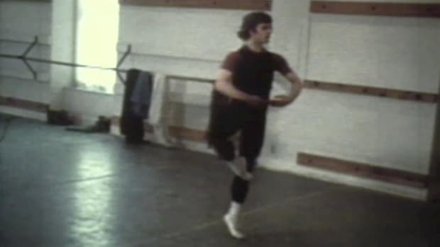 "Rare footage of the one who is often called the world's greatest living male ballet dancer. In this ""History Uncut"" video clip, Baryshnikov practices in a studio in Toronto after recently defecting from Russia. A short press conference follows."