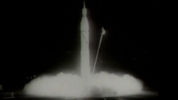 In January 1958, the United States launched its first satellite, from Cape Canaveral, Florida, in response to the Soviet Union's launch of the Sputnik satellite several months earlier.