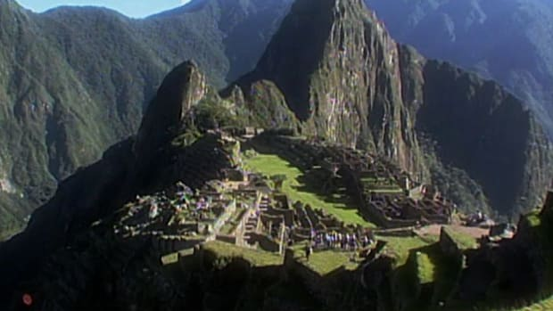 The breathtaking Inca city of Machu Picchu was built atop the Andes mountains in Peru.