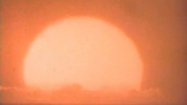 Shots of a test nuclear explosion in Hawaii. | Courtesy of the Department of Energy Nevada Operations Office