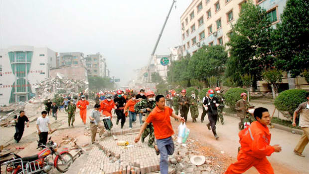 On May 12, 2008, a 7.9-magnitude earthquake shook eastern Sichuan, China, killing thousands. It was the country's worst natural disaster in three decades. A report from the National Earthquake Information Center moments after the quake describes the situation as preliminary news rolls in. The quake, originally thought to be a 7.8, was later upgraded.