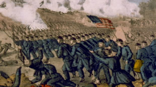 General Burnside takes Fredericksburg but experiences a disastrous defeat when attacking Confederate forces entrenched in the high ground above the town.