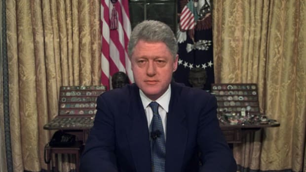 On March 24, 1999, after Serbian leaders refused to discuss peace and instead launched an attack against Kosovo, the United States joined forces with NATO in airstrikes against Serbian forces. In an address to the nation, President Bill Clinton explains why the military action is necessary.