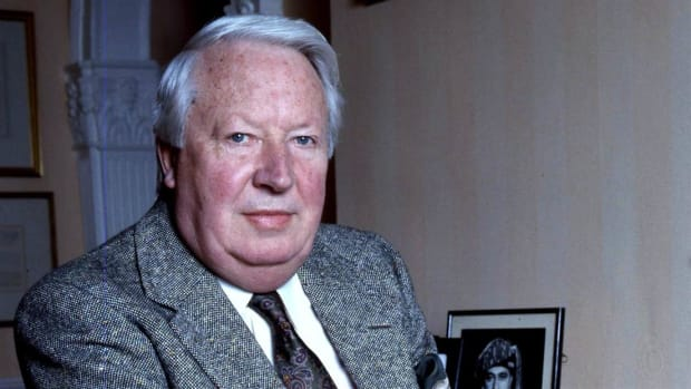 In an address, Edward Heath, Conservative Party candidate for prime minister, predicts that the women's vote will push him over the edge in a win against Labour's James Harold Wilson in the upcoming June 1970 general election.
