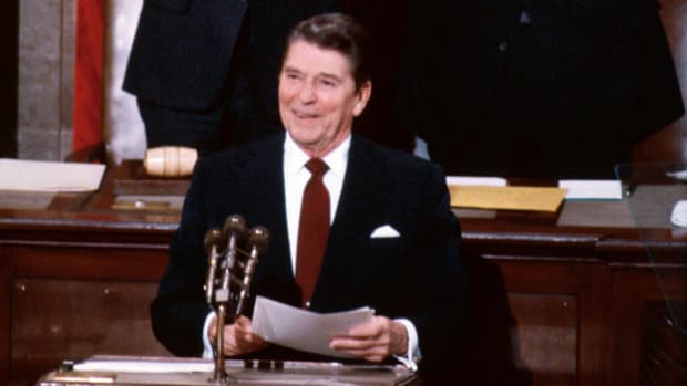 On January 26, 1982, Ronald Reagan delivers his first State of the Union address as president of the United States, remarking on the historical significance of the tradition.