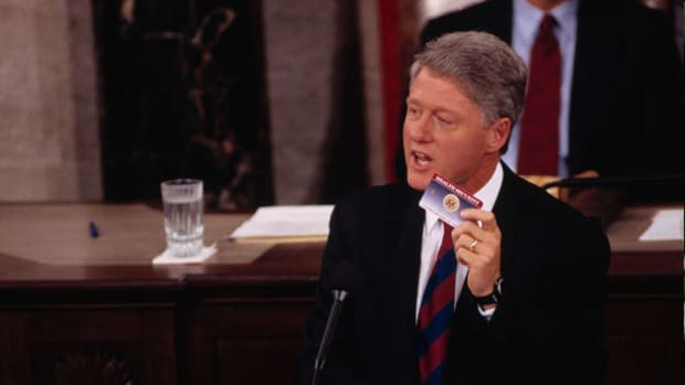 President Bill Clinton addresses Congress on September 22, 1993, to ask for their support in fixing America's broken healthcare system.