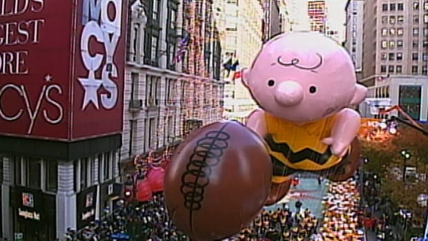 At the Macy's Studio in Hoboken, NJ, technicians work year round to construct floats and balloons for the Thanksgiving Day Parade.