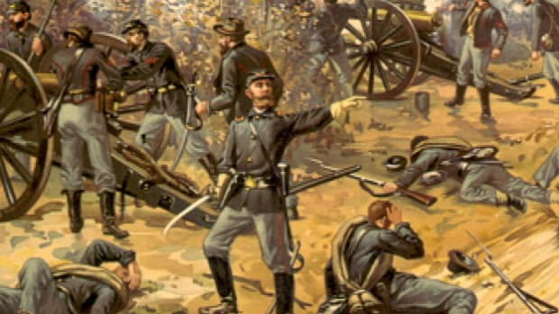 "At Shiloh, Tennessee in April of 1862, a Confederate surprise attack backfires when the Union holds firm at the ""Hornet's Nest."""