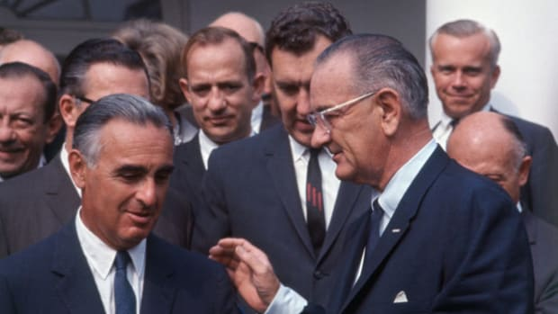 In early 1964, President Lyndon B. Johnson wanted to pass an excise tax bill, but, with two members of his party opposing, the bill was likely to die in the Senate. In a secretly recorded telephone call to Senator Abraham Ribicoff on January 23, Johnson is heard applying his power of persuasion.