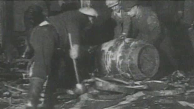 From 1919 to 1933, the manufacture and sale of alcohol is banned in the United States.